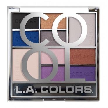 L.A Colors - Paleta de sombras de ojos Color Block - CES137 Cool