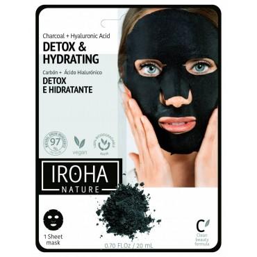 Iroha - DETOX Mascarilla facial de carbón en papel