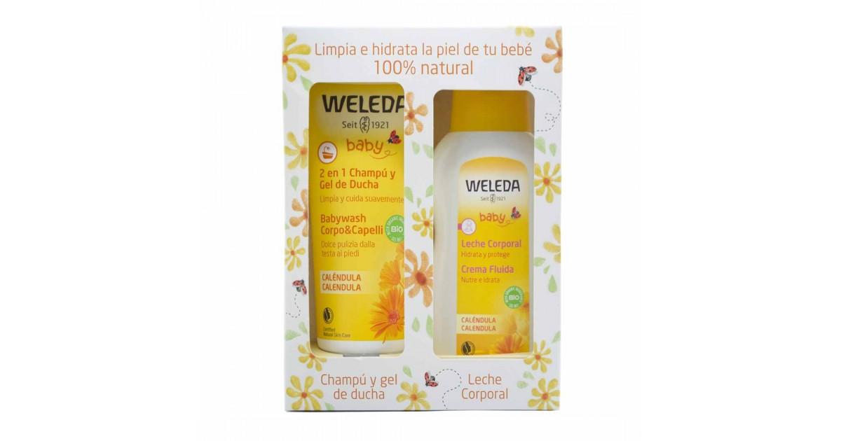 Weleda - Calendula - Pack Champú y Gel de Ducha + Leche Corporal