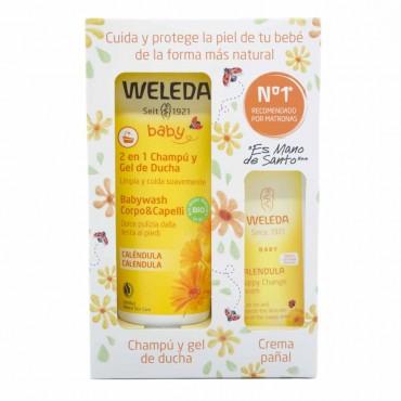 Weleda - Calendula - Pack Champu y Gel de Ducha + Crema Pañal