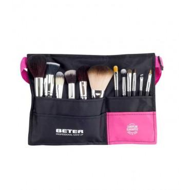 Beter - Cinturón ajustable + 12 brochas Professional Makeup
