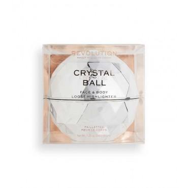 Revolution - *Precious Glamour* - Polvos sueltos iluminadores para cuerpo y rostro Crystal Ball