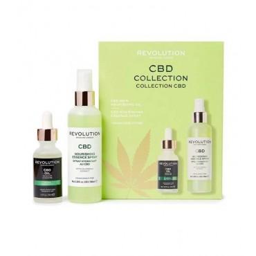 Revolution Skincare - Set de spray facial + aceite nutritivo CBD Collection
