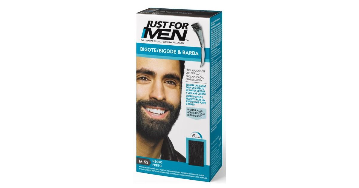 Just For Men - Colorante en Gel para Barba y Bigote - Negro