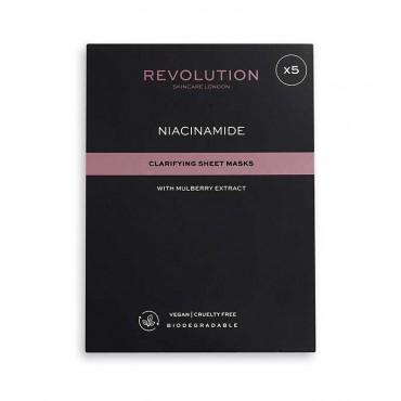 Revolution Skincare - Pack de 5 mascarillas aclarantes con niacinamida