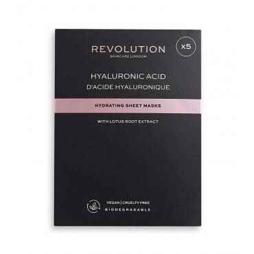 Revolution Skincare - Pack de 5 mascarillas hidratantes con ácido hialurónico