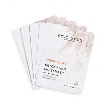 Revolution Skincare - Pack de 5 mascarillas con arcilla rosa