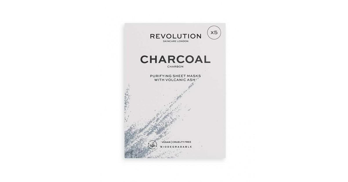 Revolution Skincare - Pack de 5 mascarillas con carbón