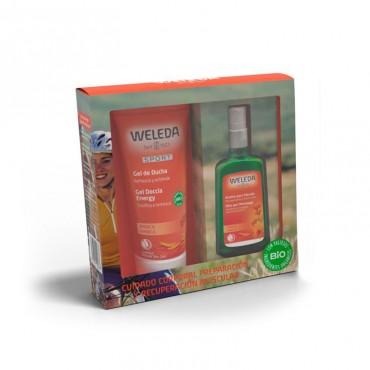 Weleda - Pack Navidad - Árnica - Aceite Masaje 100ml + Regalo Crema Ducha