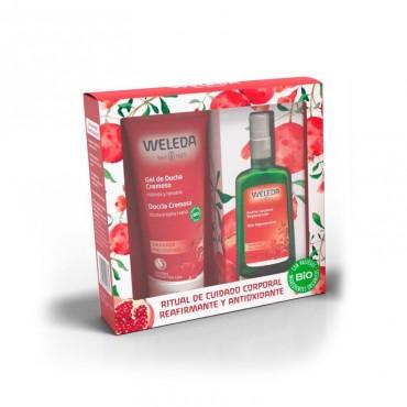 Weleda - Pack Navidad - Granada - Aceite Corporal  100ml + Regalo Crema Ducha