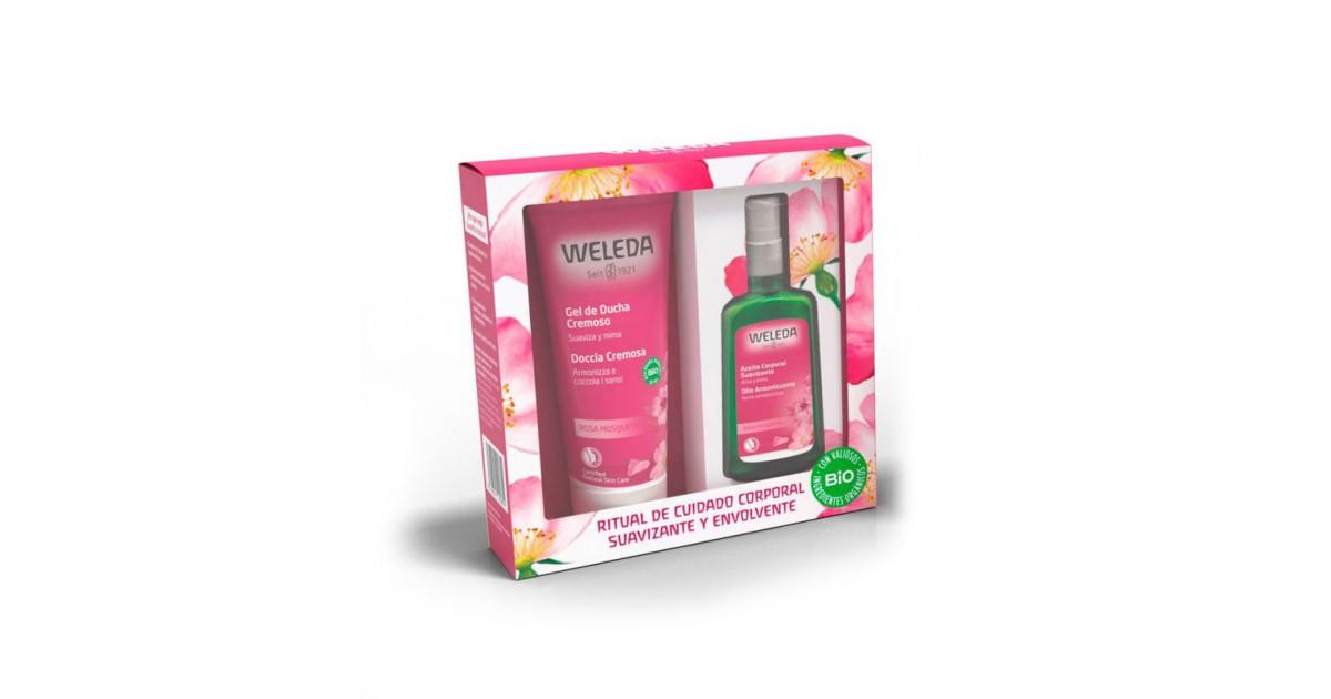 Weleda - Pack Navidad - Rosa Mosqueta - Aceite Corporal  100ml + Regalo Crema Ducha