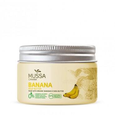 Mussa Canaria - Karité, Cacao y Plátano Ecológico de Canarias - Manteca corporal - 300ml