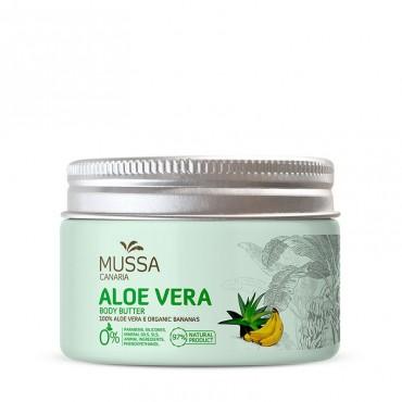 Mussa Canaria - Aloe Vera y Plátano Ecológico de Canarias - Manteca corporal - 300ml