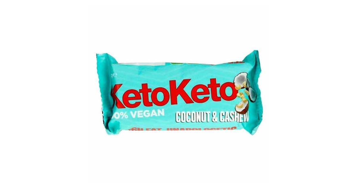 Keto - Barrita Vegana - Anacardos y Coco