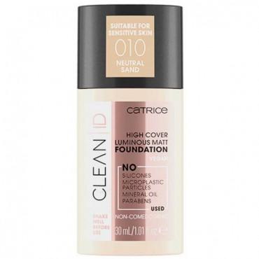 Clean ID - Base de maquillaje High Cover Luminous Matt - 010: Neutral Sand