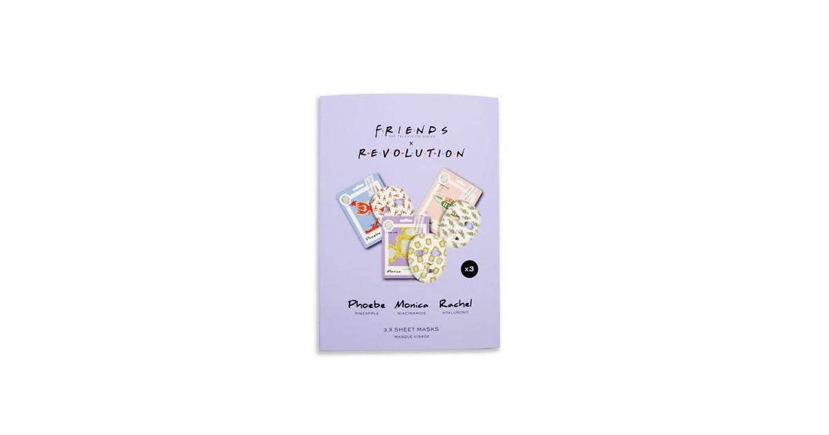 Friends X Revolution - Pack de 3 mascarillas faciales de tejido - Phoebe, Monica y Rachel