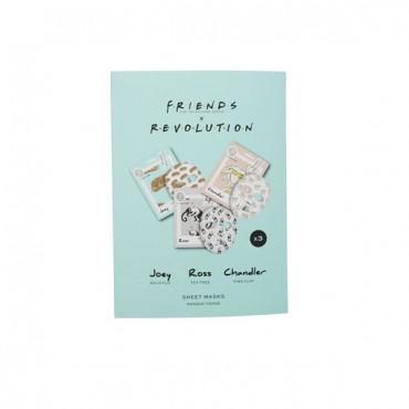 Friends X Revolution - Pack de 3 mascarillas faciales de tejido - Joey, Ross y Chandler