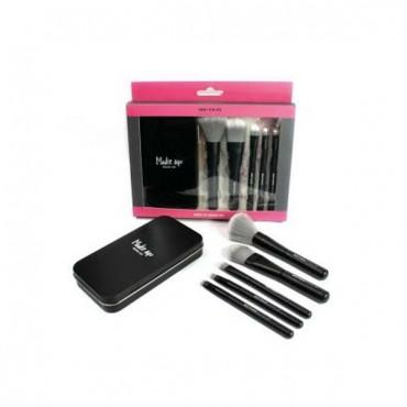 Set de mini brochas de maquillaje Black Edition