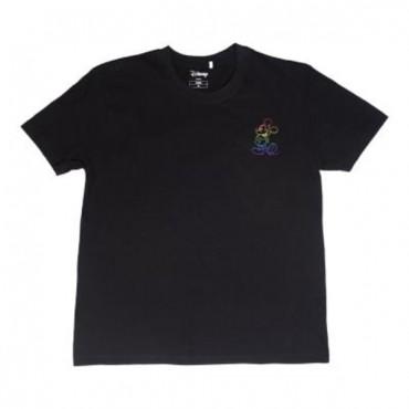 Camiseta Manga Corta Negra - Disney Pride
