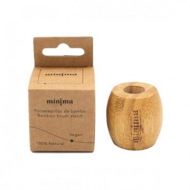 Portacepillos de bambú