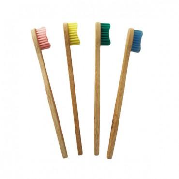 Cepillo de bambú biodegradable Infantil - Amarillo - Gato