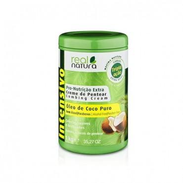 Real Natura - Crema de peinado para rizos nutridos - Extra Coco - 1Kg