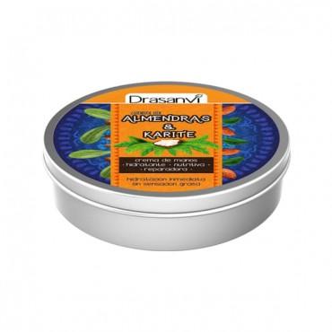 Drasanvi - Crema de manos - Aceite de almendras dulces y Karité - 75ml