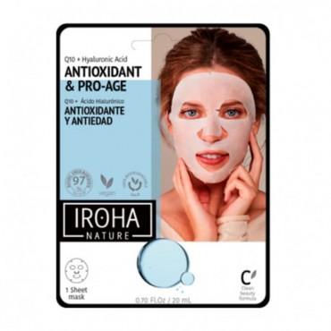 Iroha Nature - Mascarilla de papel antiwrinkles Q10 + HA - Clean Beauty
