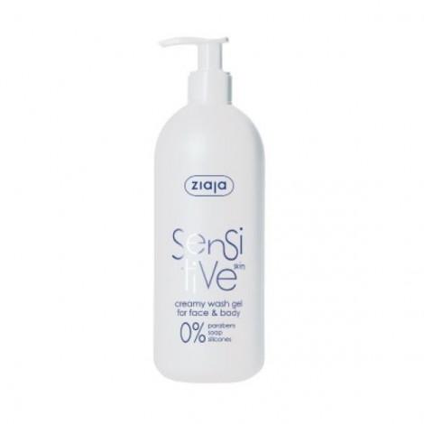 Gel limpiador cuerpo y rostro para pieles sensibles