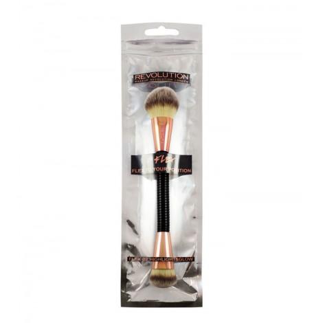 Makeup Revolution - Brocha Flex para iluminador - 02: Highlight & Glow