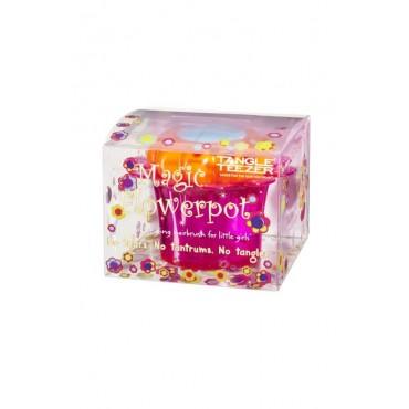 Tangle Teezer Nuevo FlowerPot - Cepillo niños especial para desenredar - Popping Purple