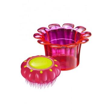 Tangle Teezer Nuevo FlowerPot - Cepillo niños especial para desenredar - Princess Pink