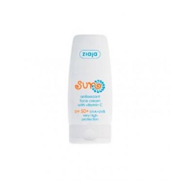 Ziaja - Gama Solar - Crema Facial Solar Antioxidante SPF 50 con Vitamina C