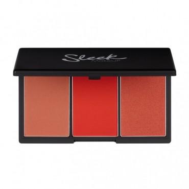 Sleek MakeUP - Paleta de coloretes Blush by 3 - Flame