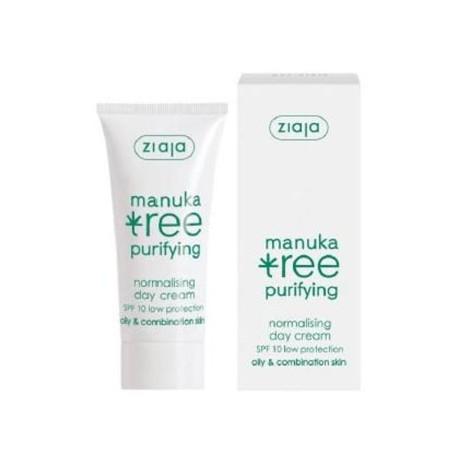 Ziaja - Manuka Tree - Crema de Día para Pieles Grasas SPF10 - 50ml