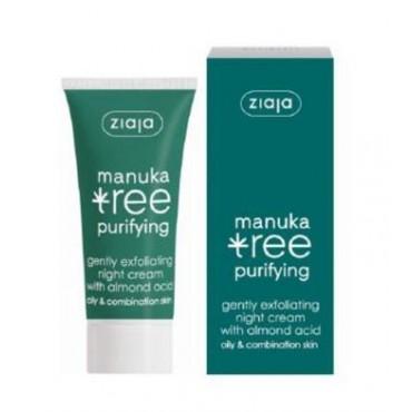 Ziaja - Manuka Tree - Crema de Noche Exfoliante para Pieles Grasas