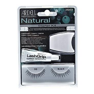 Ardell - Natural - Kit Pestañas postizas y pegamento aplicador - 110 Black