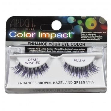 Ardell - Pestañas postizas Color Impact Demi Wispies Plum.