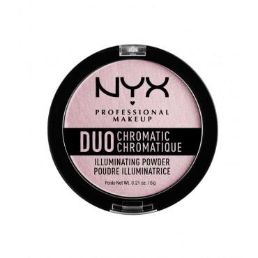 Nyx Professional Makeup - Iluminador Duo Chromatic Illuminating Powder - DCIP02: Lavender Steel