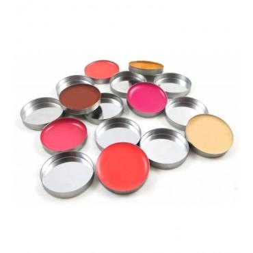 Zpalette - Contenedores metalicos vacíos (pans) para productos cosméticos 26mm - 20uds