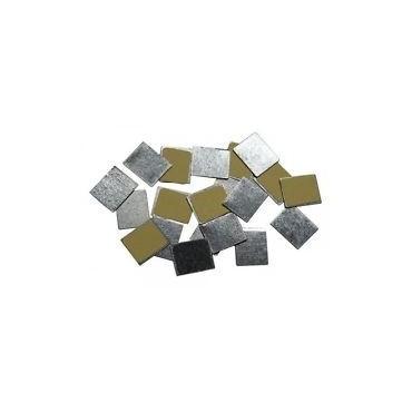 Zpalette - Pegatinas Cuadradas Metalicas