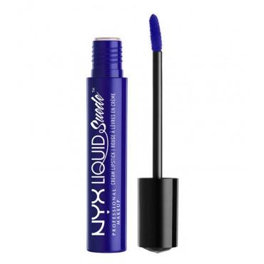 Nyx Professional Makeup -Labial Líquido Suede Cream Lipstick - Jet Set