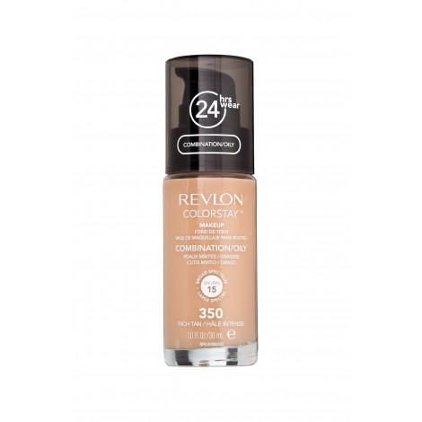 Revlon - Base de Maquillaje fluida ColorStay para piel Mixta/Grasa SPF15 - 350: Rich Tan