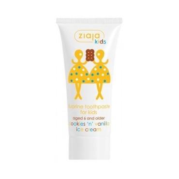 Ziaja - Dentifrico para niños de galleta y helado de vainilla
