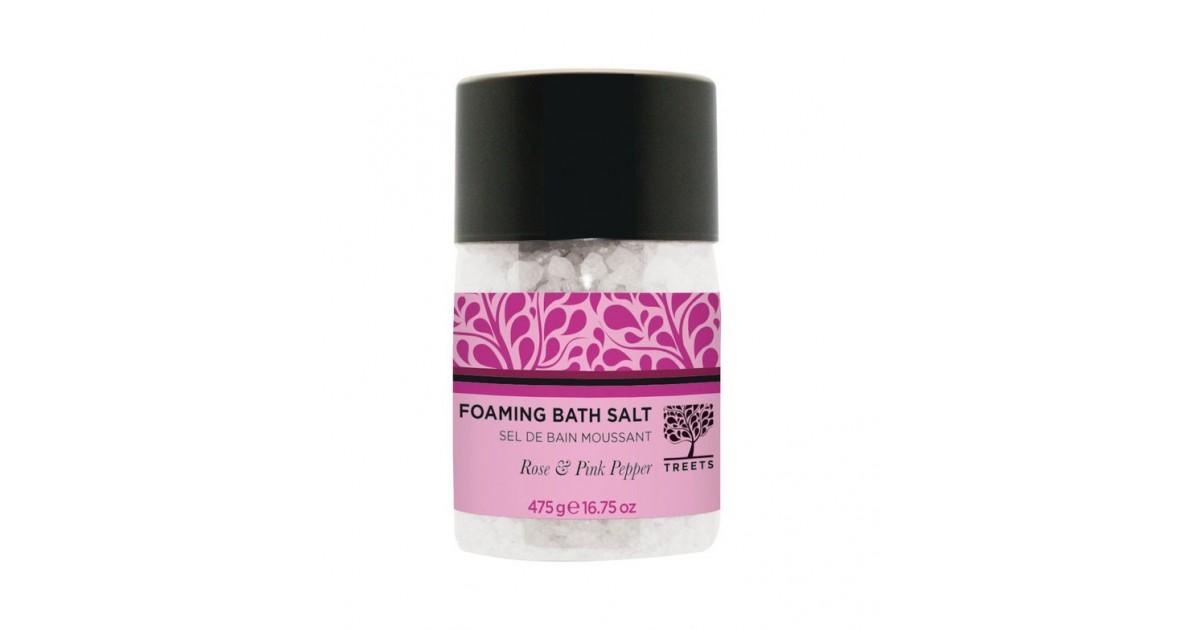 Treets - Sales de baño espumantes Rose & Pink Pepper