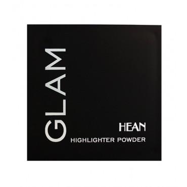 Hean - Polvo compacto iluminador GLAM con espejo 204