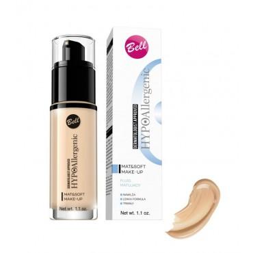 Bell - Hypo - Mat & Soft - Base de Maquillaje Matificante Hipoalergénica - 02: Natural