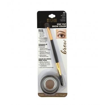 Milani - Color en crema para cejas Stay Put Brow Color - 05: Castaño Oscuro