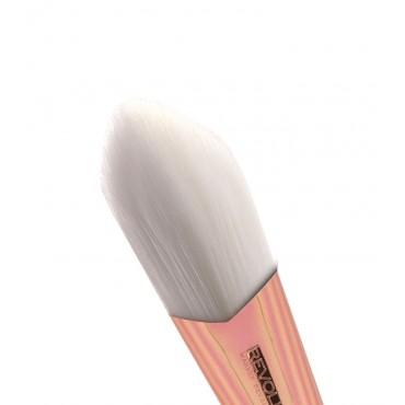 Makeup Revolution - Brocha Contorno Ultra Metals Contour Foundation Brush – F302
