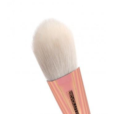 Makeup Revolution - Brocha colorete Ultra Metals Sculpt Blush Brush – F303